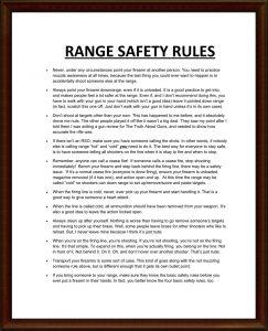 RANGE SAFETY RULES1